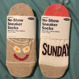 Women's no show sneaker socks- 2 packs